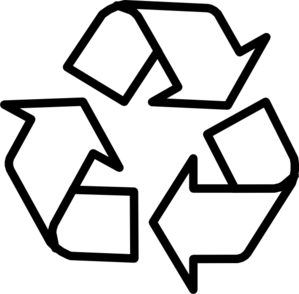 Recycling Symbol Outline Clip Art