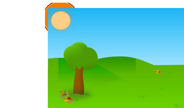 Trees Sky Grass Clip Art At Clker Com Vector Clip Art Online