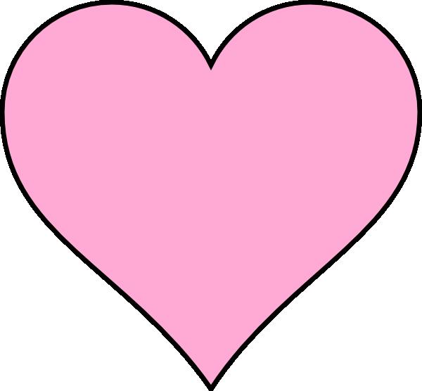 pink heart clip art at clker com vector clip art online heart shape vector illustrator heart shape vector free black and white