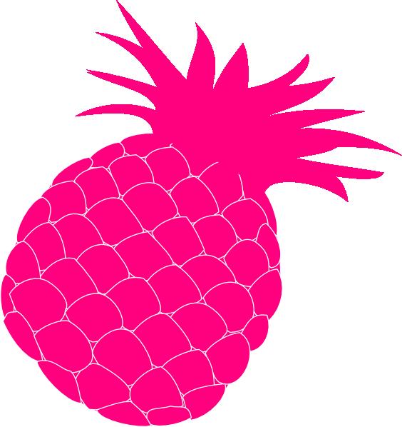 Hot Pink Pineapple Clip Art At Clker Com Vector Clip Art