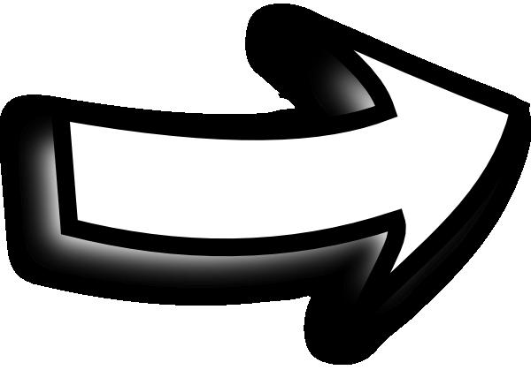 White Arrow Sideways Clip Art at Clker.com - vector clip ...