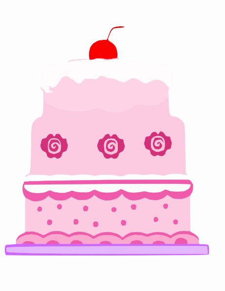 Pink Cake Clip Art At Clker Com Vector Online Royalty Free Public Domain