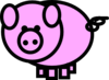 Pink Pig Revised Clip Art