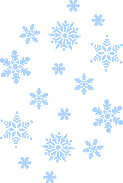 Blue Snow Falling Clip Art at Clker.com - vector clip art ...