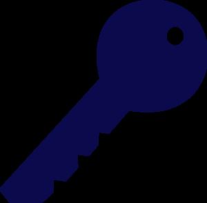 Blue Key Clip Art At Clker Com Vector Clip Art Online