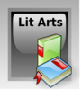 Literature Arts Button Clip Art