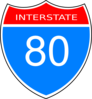Interstate 80 Road Sign Clip Art