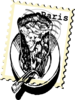 Paris Pie Stamp 2 Clip Art
