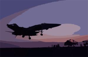 An F/a-18c Hornet Makes An Arrested Landing On The Flight Deck Aboard Uss Kitty Hawk Kitty (cv 63). Clip Art