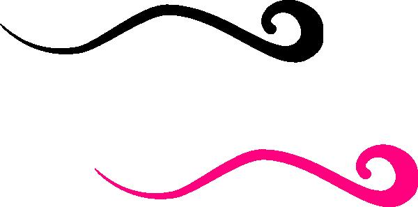pink and black swoosh clip art at clker - vector clip art