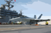 An F/a-18f Launches From The Ship Clip Art