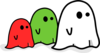 Colored Ghosts Clip Art