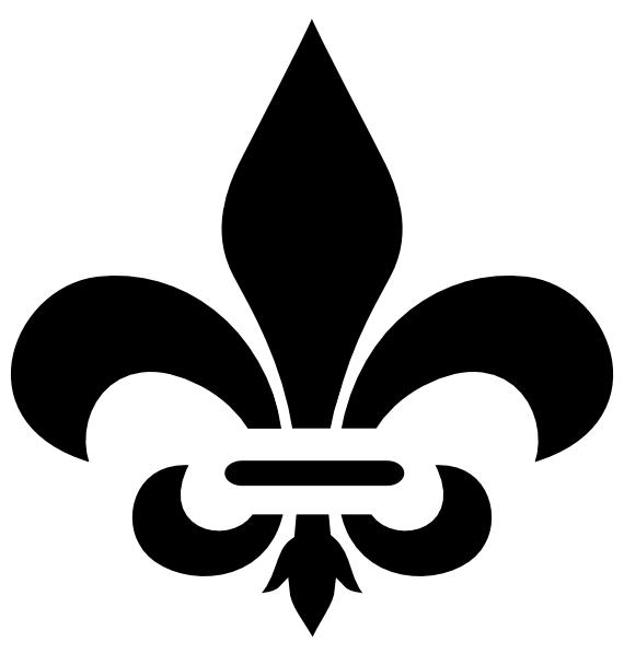 black fleur de lis clip art at clker - vector clip art online