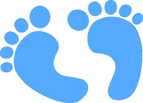 Baby Feet - Blue Clip Art at Clker.com - vector clip art ...