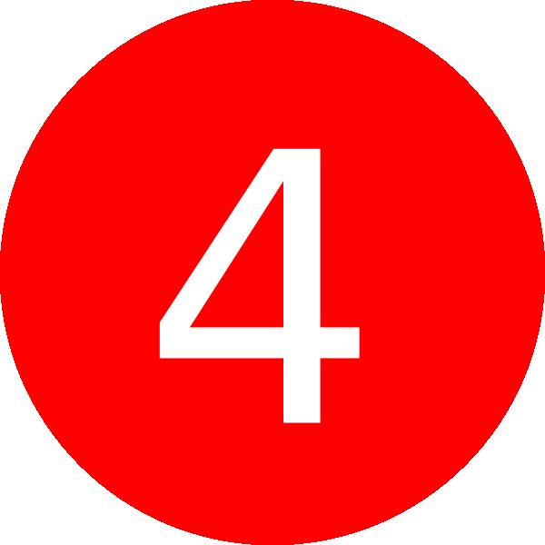 Number 4 Red Background Clip Art at Clker.com - vector ...