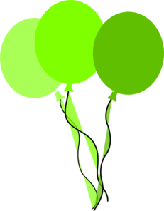 Green Party Balloons Clip Art at Clker.com - vector clip ...