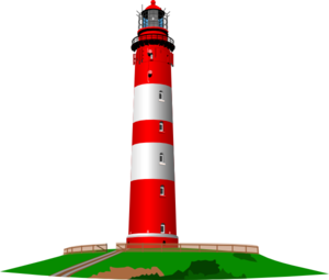 Red And White Lighthouse Clip Art