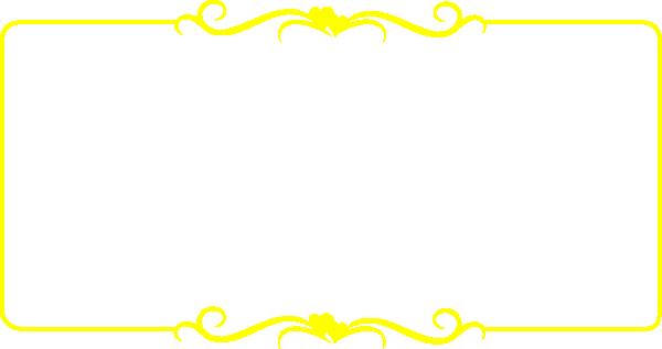 Yellow Wedding Heart Border Clip Art At Clker Com Vector