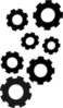 Cogs Collection Black Clip Art