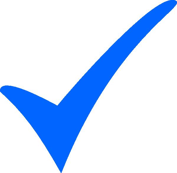 simple blue tick clip art at clker com
