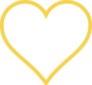 Light Gold Heart Clip Art