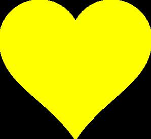 Yellow Heart Clip Art at Clker.com - vector clip art ...