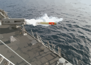 A Mk-46 Torpedo Is Launched From Uss Preble Ddg 88 Clip Art
