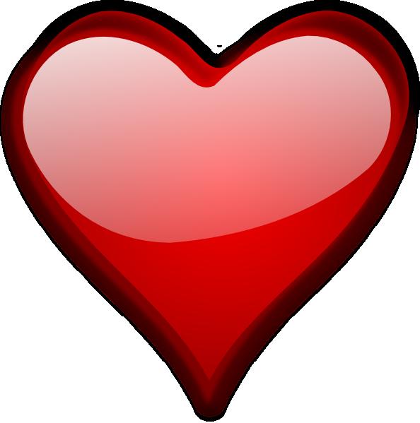 Glossy Red Heart Clip Art at Clker.com - vector clip art ...