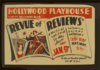 Revue Of Reviews  A Musical Satire Of Today Hollywood Playhouse, Vine Near Hollywood Blvd. : Federal Theatre Project Div. Of W.p.a. Clip Art
