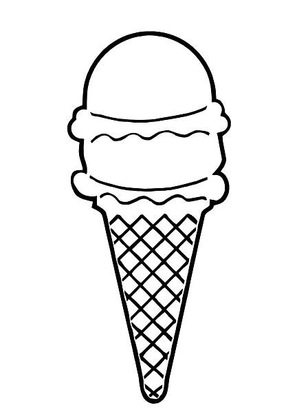 Line Art Ice Cream : Ice cream cone outline clip art at clker vector