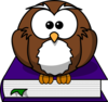 Purple Hoot Clip Art