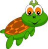 Cartoonish Turtle Clip Art
