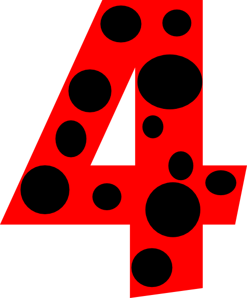 number 4 dots clip art at clkercom vector clip art