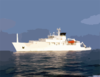 Usns Bowditch Oceanographic Survey Ship. Clip Art