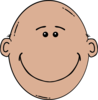 Bald Happy Man Clip Art