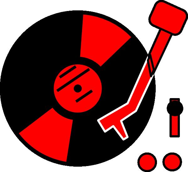 turntable red clip art at clkercom vector clip art
