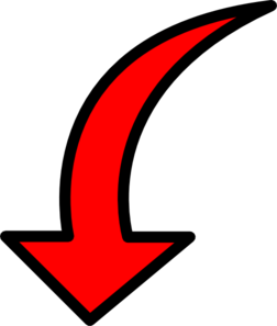 Red Arrow Filled Clip Art at Clker.com - vector clip art ...
