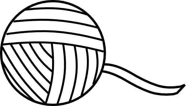 Yarn Clipart Black And White Ball Of Yarn Outline C...