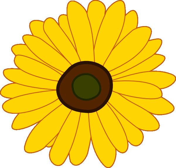 Black Flower 3 Clip Art At Clker Com: Sunflower Clip Art At Clker.com