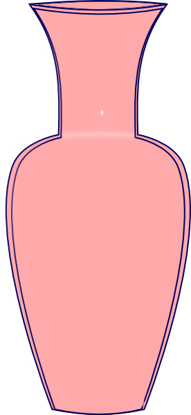 Pink Vase Clip Art At Clker Vector Clip Art Online Royalty