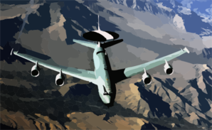 E-3 Aircraft Conducts A Mission Over Afghanistan Clip Art