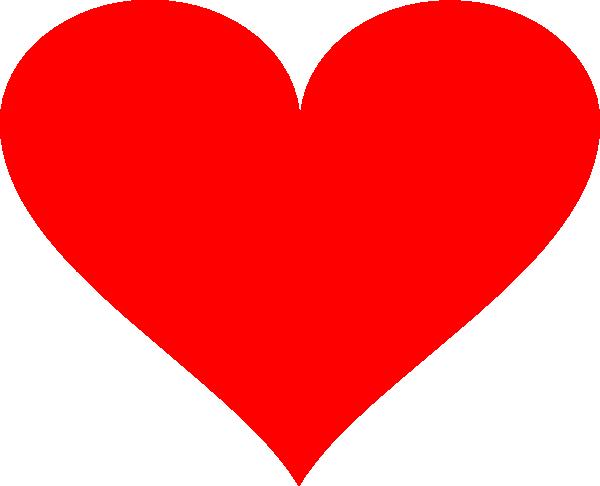 Light Red Heart Clip Art at Clker.com - vector clip art ...
