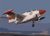 A T-2c Buckeye Assigned To Fixed Wing Training Squadron Nine (vt-9) Performs A Touch And Go On The Flight Deck Of Uss Harry S. Truman (cvn 75). Clip Art