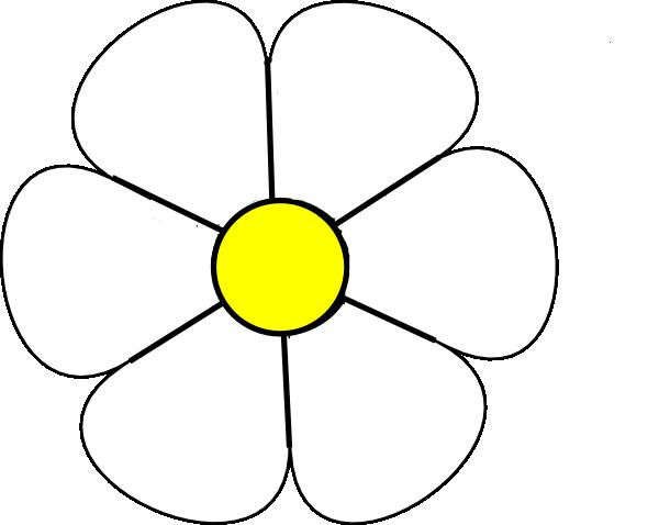 White Daisy 1 Clip Art at Clker.com - vector clip art ... White Daisy Flowers Clipart
