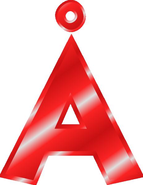 Effect Letters Alphabet Red   U00c5 Clip Art At Clker Com