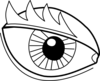 Eye Outline Clip Art