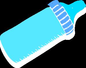 Baby Bottle Blue Clip Art At Clker Com Vector Clip Art