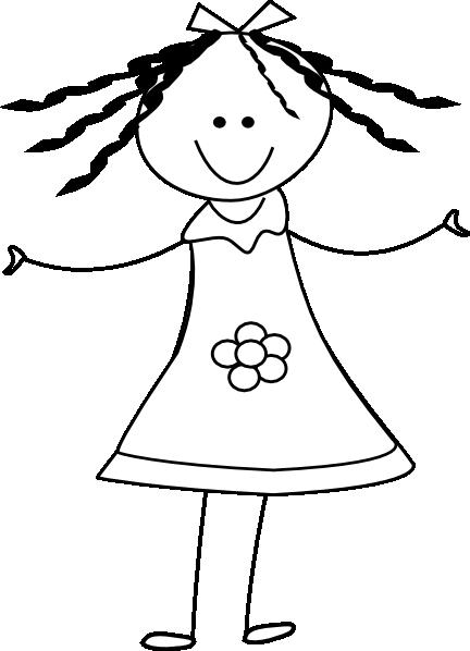 happy girl clip art at clker com