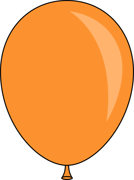 orange balloon clip art at clker com vector clip art online  royalty free   public domain clip art balloons and streamers clip art balloons and streamers
