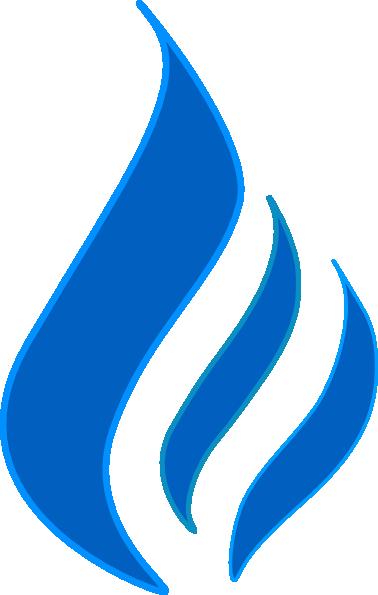 Blue Flame Solid Color Contur Clip Art at Clker.com ...
